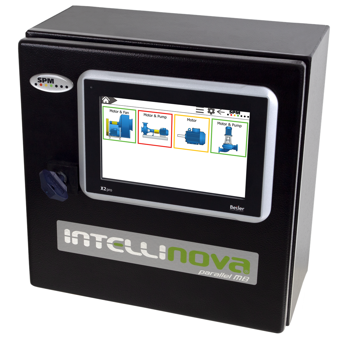 Intellinova Parallel MB system with HMI display installed on the cabinet